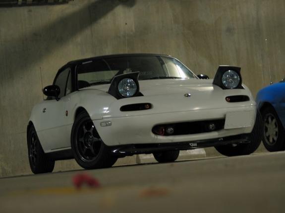 NA White Miata MX 5